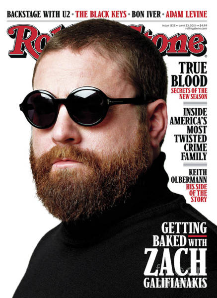 Wall Art - Photograph - Rolling Stone Cover - Volume #1133 - 6/23/2011 - Zach Galifianakis by Theo Wenner