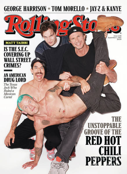 Wall Art - Photograph - Rolling Stone Cover - Volume #1138 - 9/1/2011 - Red Hot Chili Peppers by Terry Richardson