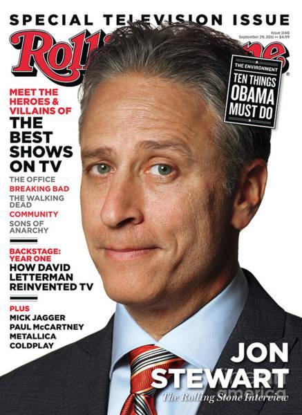 Watson Photograph - Rolling Stone Cover - Volume #1140 - 9/29/2011 - Jon Stewart by Albert Watson