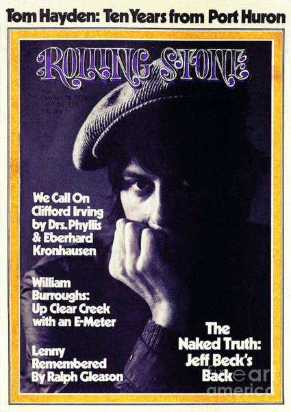 Wall Art - Photograph - Rolling Stone Cover - Volume #120 - 10/26/1972 - Jeff Beck by Herbie Greene