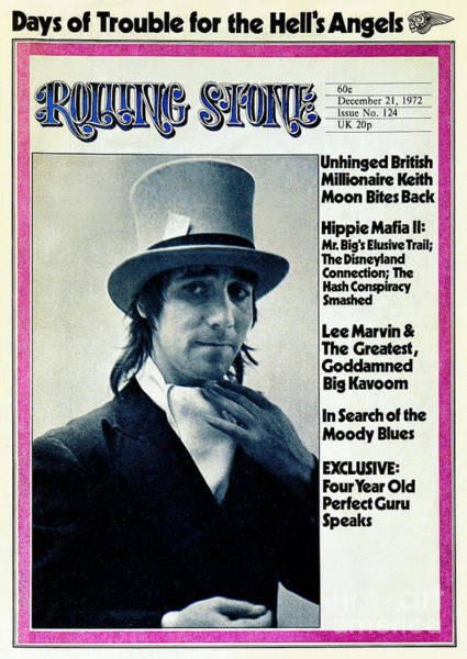 Wall Art - Photograph - Rolling Stone Cover - Volume #124 - 12/21/1972 - Keith Moon by Bob Gruen
