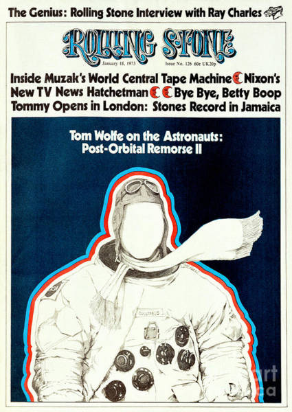 Astronaut Photograph - Rolling Stone Cover - Volume #126 - 1/18/1973 - Apollo Astronaut by Dugard Stermer