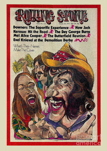 Show Photograph - Rolling Stone Cover - Volume #131 - 3/29/1973 - Dr. Hook And The Medicine Show by Gerry Gersten