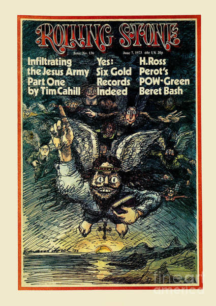 Wall Art - Photograph - Rolling Stone Cover - Volume #136 - 6/7/1973 - Jesus Freaks by Edward Sorel