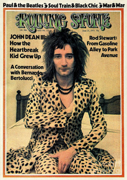 Wall Art - Photograph - Rolling Stone Cover - Volume #137 - 6/21/1973 - Rod Stewart by Charles Gatewood