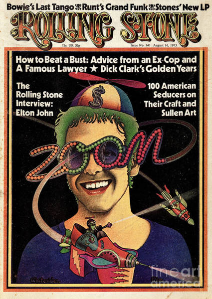 Wall Art - Photograph - Rolling Stone Cover - Volume #141 - 8/16/1973 - Elton John by Kim Whitesides