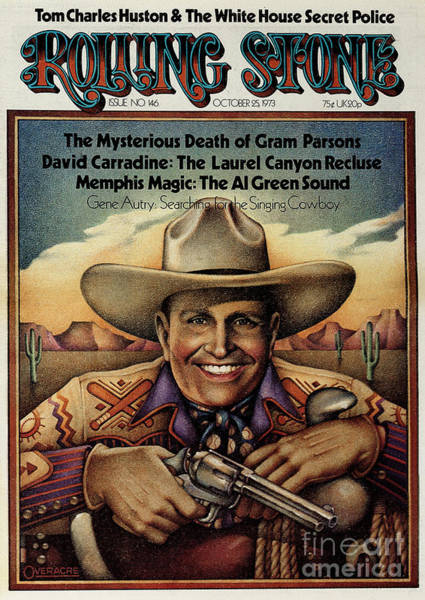Wall Art - Photograph - Rolling Stone Cover - Volume #146 - 10/25/1973 - Gene Autry by Gary Overacre