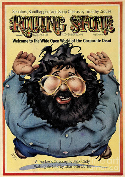 Jerry Garcia Photograph - Rolling Stone Cover - Volume #148 - 11/22/1973 - Jerry Garcia by Robert Grossman