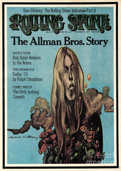 Stone Wall Art - Photograph - Rolling Stone Cover - Volume #149 - 12/6/1973 - Gregg Allman by Gilbert Stone