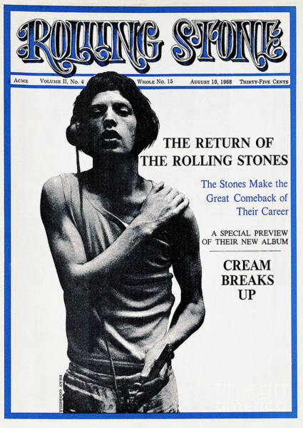 Mick Jagger Photograph - Rolling Stone Cover - Volume #15 - 8/10/1968 - Mick Jagger by Dean Goodhill