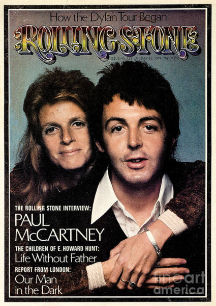 Wall Art - Photograph - Rolling Stone Cover - Volume #153 - 1/31/1974 - Paul And Linda Mccartney by Francesco Scavullo