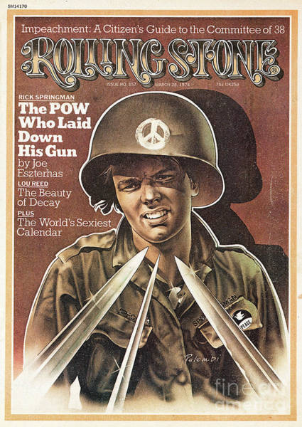 Rick Wall Art - Photograph - Rolling Stone Cover - Volume #157 - 3/28/1974 - P.o.w. Rick Springman by Peter Palombi