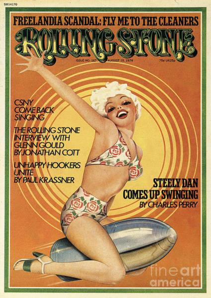 Rolling Stone Cover - Volume #167 - 8/15/1974 - Steely Dan Art Print