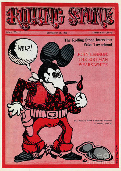 Mice Photograph - Rolling Stone Cover - Volume #17 - 9/14/1968 - Zap Comix Mouse by Rick Griffin