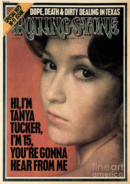 Wall Art - Photograph - Rolling Stone Cover - Volume #170 - 9/26/1974 - Tanya Tucker by Doug Metzler