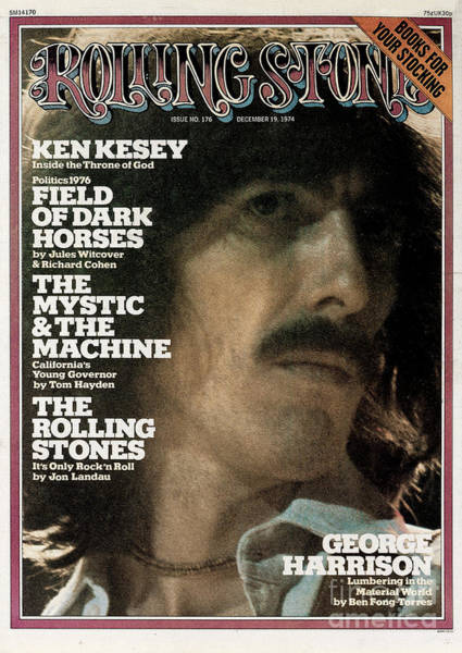 Harrison Photograph - Rolling Stone Cover - Volume #176 - 12/19/1974 - George Harrison by Mark Focus