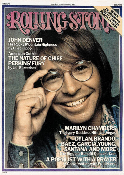 Wall Art - Photograph - Rolling Stone Cover - Volume #186 - 5/8/1975 - John Denver by Francesco Scavullo