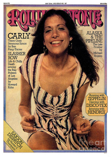 Simon Wall Art - Photograph - Rolling Stone Cover - Volume #187 - 5/22/1975 - Carly Simon by Tony Lane