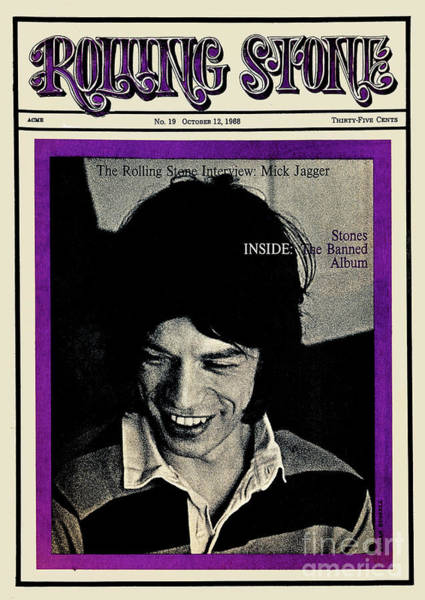 Wall Art - Photograph - Rolling Stone Cover - Volume #19 - 10/12/1968 - Mick Jagger by Ethan Russell
