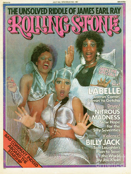 Wall Art - Photograph - Rolling Stone Cover - Volume #190 - 7/3/1975 - Labelle by Hiro