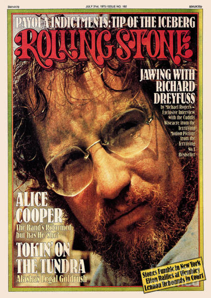 Wall Art - Photograph - Rolling Stone Cover - Volume #192 - 7/31/1975 - Richard Dreyfuss by Bud Lee