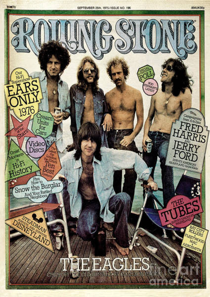 Wall Art - Photograph - Rolling Stone Cover - Volume #196 - 9/25/1975 - The Eagles by Neal Preston