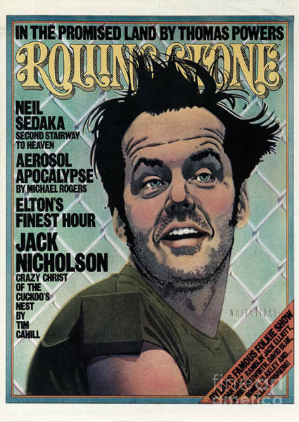 Wall Art - Photograph - Rolling Stone Cover - Volume #201 - 12/4/1975 - Jack Nicholson by Kim Whitesides