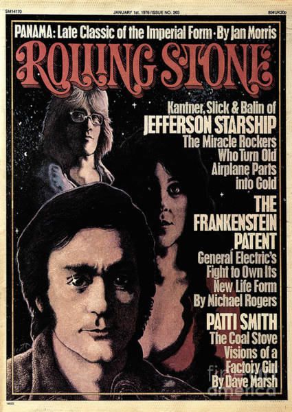 Jefferson Photograph - Rolling Stone Cover - Volume #203 - 1/1/1976 - Jefferson Airplane by Greg Scott