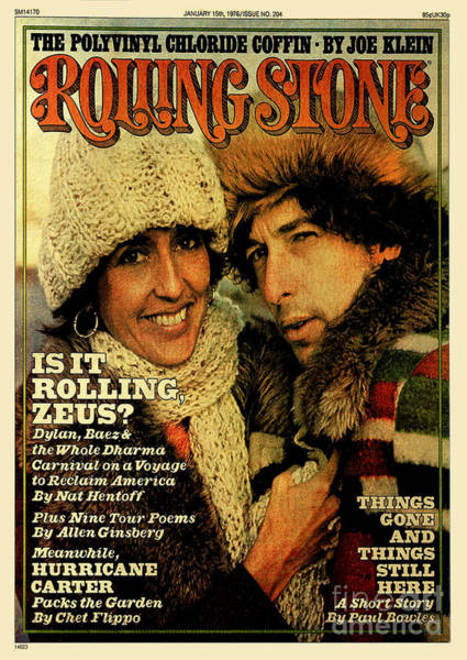 Wall Art - Photograph - Rolling Stone Cover - Volume #204 - 1/15/1976 - Joan Baez And Bob Dylan by Ken Regan