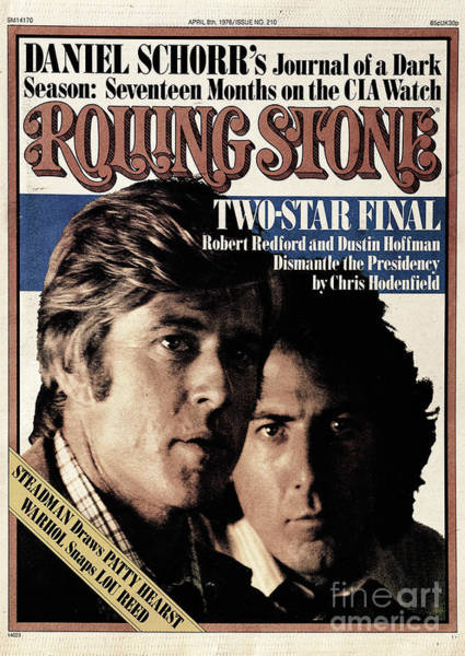 Wall Art - Photograph - Rolling Stone Cover - Volume #210 - 4/8/1976 - Robert Redford And Dustin Hoffman by Stanley Tretick