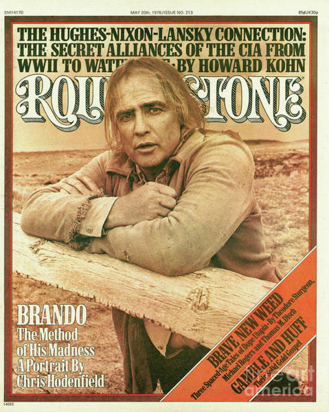 Wall Art - Photograph - Rolling Stone Cover - Volume #213 - 5/20/1976 - Marlon Brando by Mary Ellen Mark