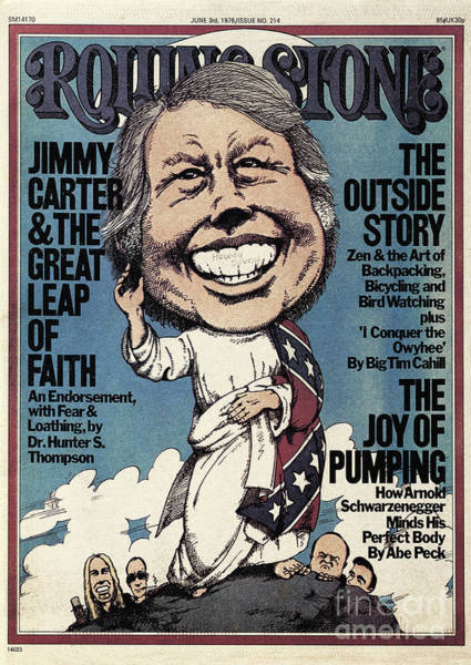 Jimmy Wall Art - Photograph - Rolling Stone Cover - Volume #214 - 6/3/1976 - Jimmy Carter by Greg Scott