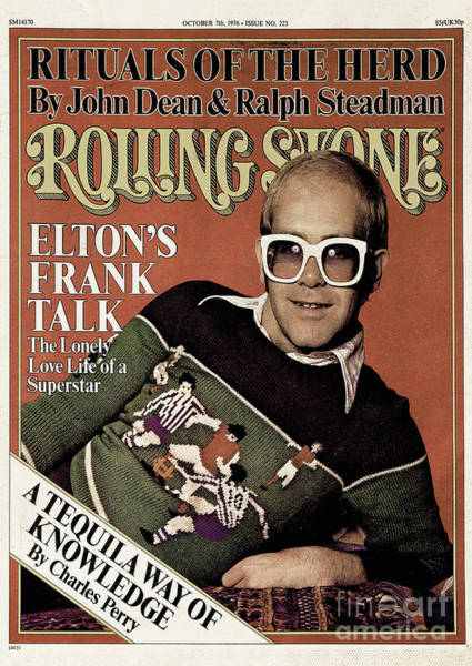 John Photograph - Rolling Stone Cover - Volume #223 - 10/7/1976 - Elton John by David Nutter