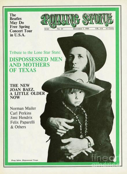 Baron Photograph - Rolling Stone Cover - Volume #23 - 12/7/1968 - Doug And Sean Sahm by Baron Wolman