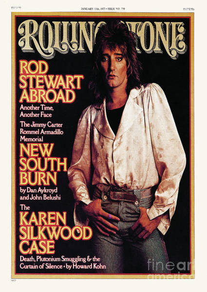 Rods Photograph - Rolling Stone Cover - Volume #230 - 1/13/1977 - Rod Stewart by David Montgomery