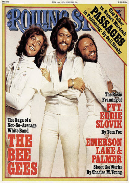 Bee Photograph - Rolling Stone Cover - Volume #243 - 7/14/1977 - Bee Gees by Francesco Scavullo