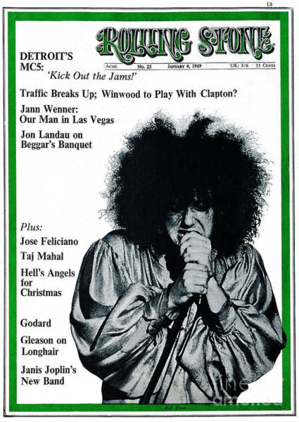 Unknown Photograph - Rolling Stone Cover - Volume #25 - 1/4/1969 - Rob Tyner by Unknown