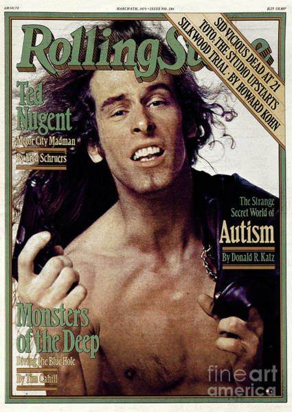 Ted Photograph - Rolling Stone Cover - Volume #286 - 3/8/1979 - Ted Nugent by Bill King