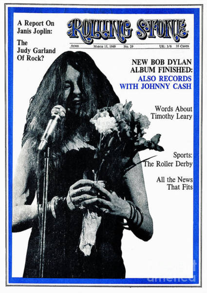 Unknown Photograph - Rolling Stone Cover - Volume #29 - 3/15/1969 - Janis Joplin by Unknown