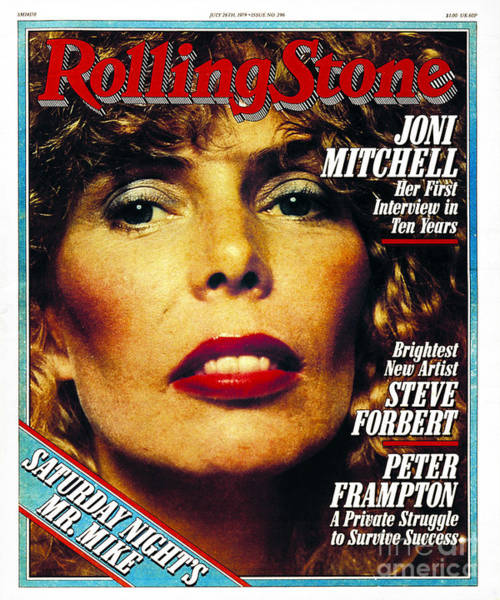 Norman Photograph - Rolling Stone Cover - Volume #296 - 7/26/1979 - Joni Mitchell by Norman Seeff