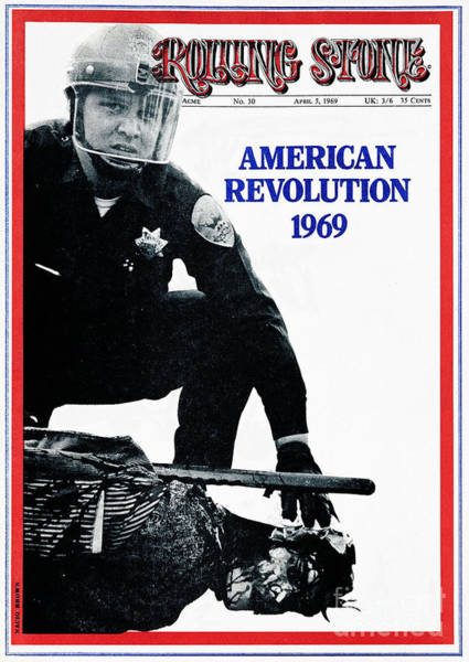 Revolution Wall Art - Photograph - Rolling Stone Cover - Volume #30 - 4/5/1969 - American Revolution 1969 by Nacio Brown