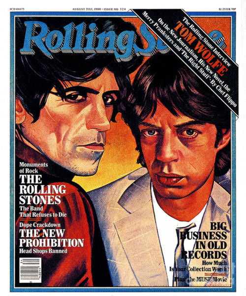 Mick Jagger Photograph - Rolling Stone Cover - Volume #324 - 8/21/1980 - Mick Jagger And Keith Richards by Julian Allen