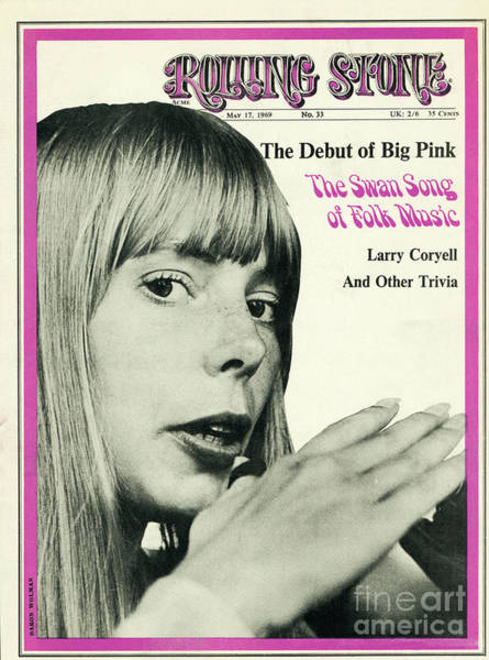 Baron Photograph - Rolling Stone Cover - Volume #33 - 5/17/1969 - Joni Mithell by Baron Wolman