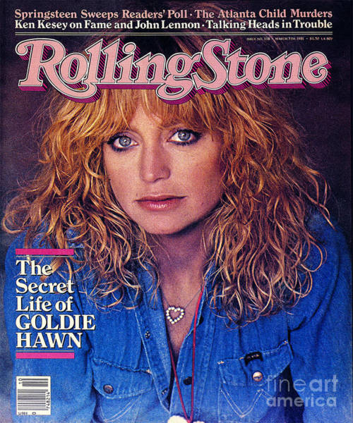 Wall Art - Photograph - Rolling Stone Cover - Volume #338 - 3/5/1981 - Goldie Hawn by Denis Piel