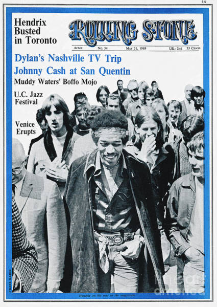 Wall Art - Photograph - Rolling Stone Cover - Volume #34 - 5/31/1969 - Jimi Hendrix by Franz Maier