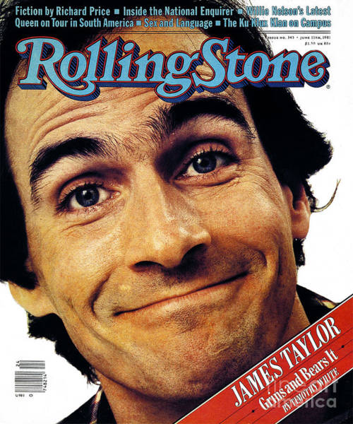 James Photograph - Rolling Stone Cover - Volume #345 - 6/11/1981 - James Taylor by Aaron Rapoport