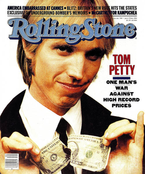 Tom Wall Art - Photograph - Rolling Stone Cover - Volume #348 - 7/23/1981 - Tom Petty by Aaron Rapoport