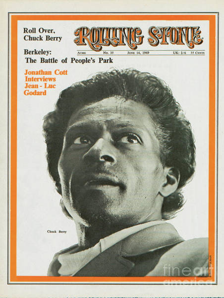 Berry Photograph - Rolling Stone Cover - Volume #35 - 6/14/1969 - Chuck Berry by Baron Wolman