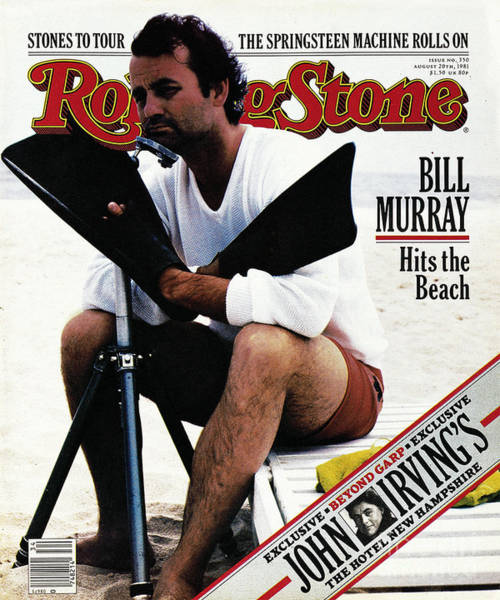 Bill Photograph - Rolling Stone Cover - Volume #350 - 8/20/1981 - Bill Murray by Andrea Blanch