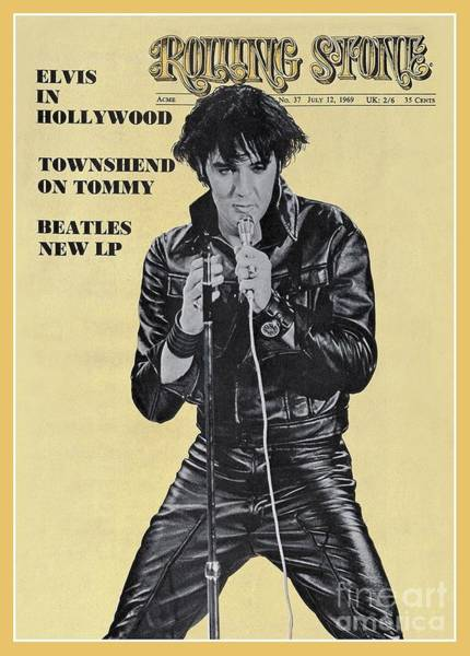 Wall Art - Photograph - Rolling Stone Cover - Volume #37 - 7/12/1969 - Elvis Presley by Unknown